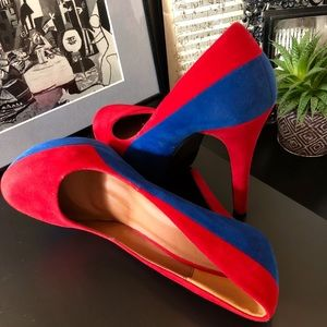 Shoes - Gorgeous Red and Blue Pumps